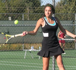 Demons score first SLC tennis win
