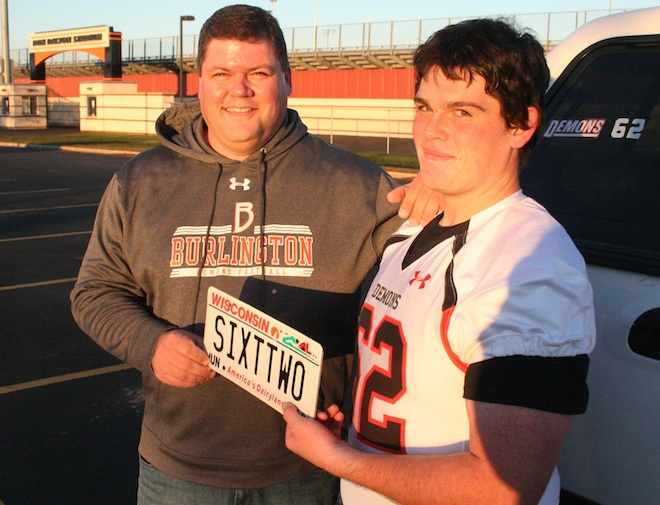 What's in a number? Plenty for football player who wins bet with teammate's father
