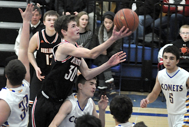 Burlington dismantles Delavan with historic 100-point night