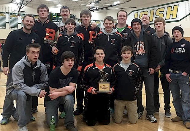 Burlington wrestling slays top teams for 2nd straight tourney title