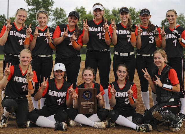 Burlington softball wins regional championship