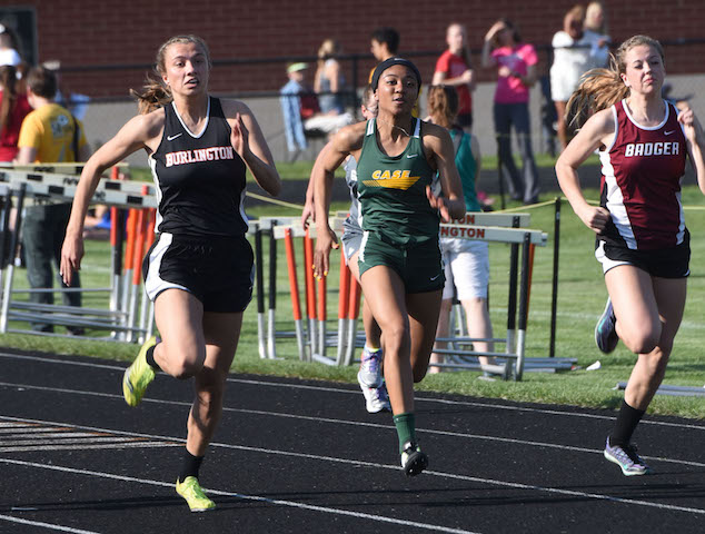 Burlington track features young talent