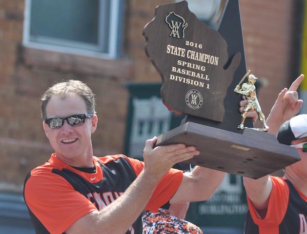 Burlington baseball's Staude named coach of the year