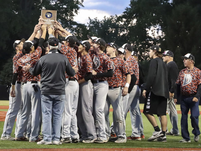 VIDEO: Burlington baseball team honored after sectional title, celebrated by parents, fans