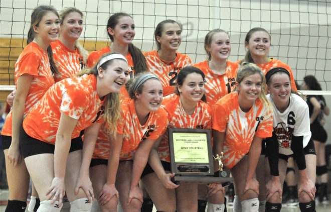 Burlington volleyball sweeps Westosha for 7th conference title in 8 years