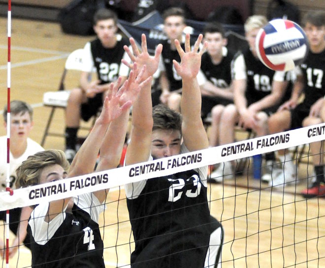 Progress makes perfect: Burlington boys volleyball wins first conference match