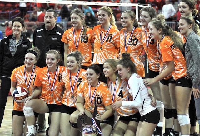 Burlington volleyball falls in state championship
