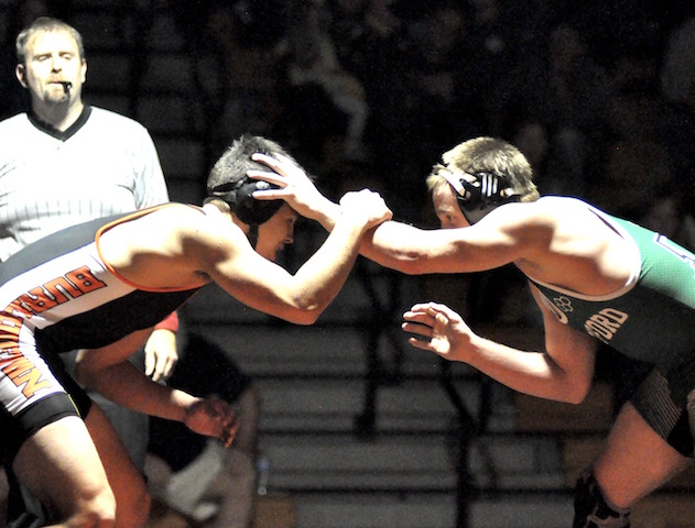 Late surge pushes Waterford wrestling past Burlington
