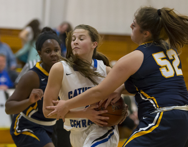 Catholic Central girls snap 56-game conference losing skid