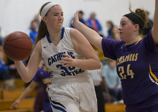 Huge second half lifts Catholic Central basketball