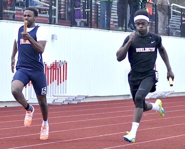 Burlington track nabs four events