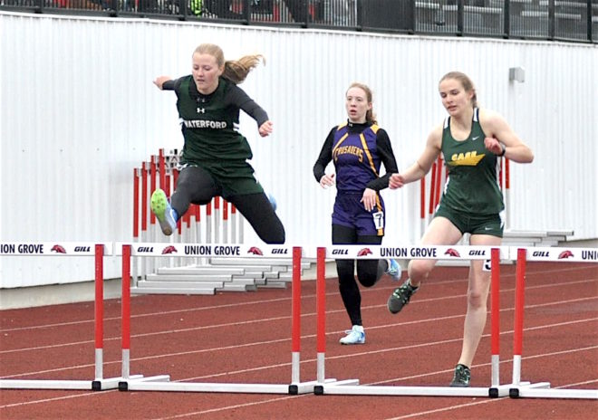 Waterford track girls shatter records in first-place performance