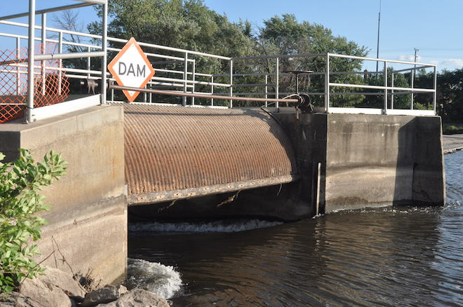 Dam repair nearly complete