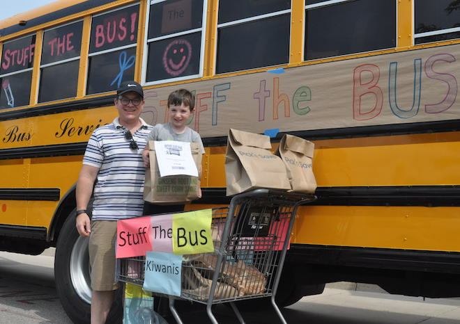 Stuffing the bus for local students