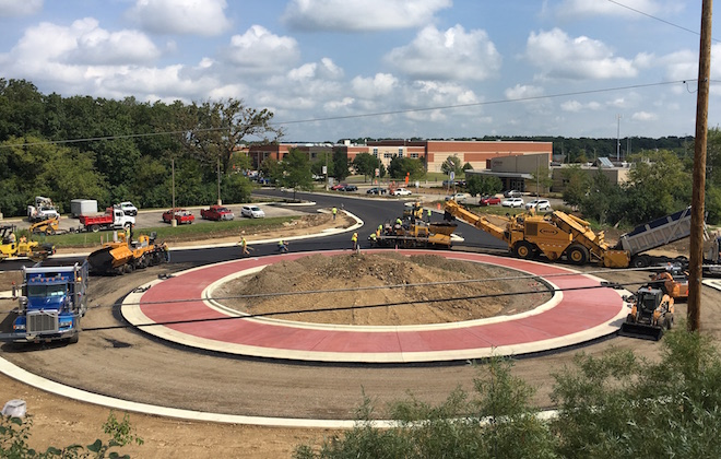 Roundabout opening now slated for October