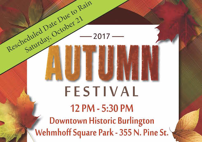 Autumn Fest postponed by rainy forecast