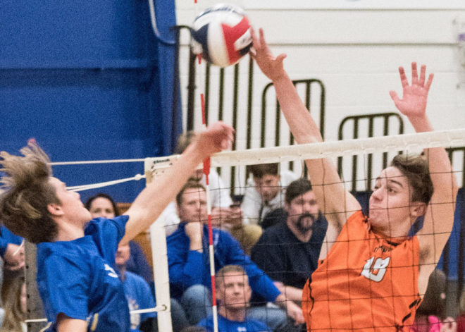 Burlington boys volleyball sweeps Mukwonago, battles tonight for state berth