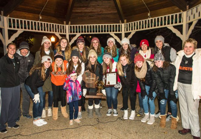 Champions on parade: Volleyball girls receive royal treatment