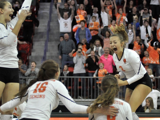 TOP SPORTS STORY OF 2017: Burlington volleyball captures 3rd state title in 7 years