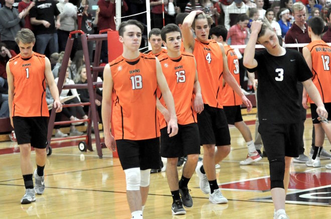 Burlington boys volleyball overpowered in sectional final, season ends