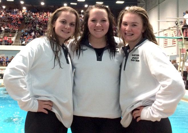 Burlington swimmers cap banner season at state