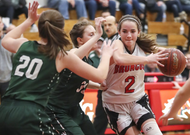 Bull bucks Wilmot win streak, Lady Broncos cling to 1st place