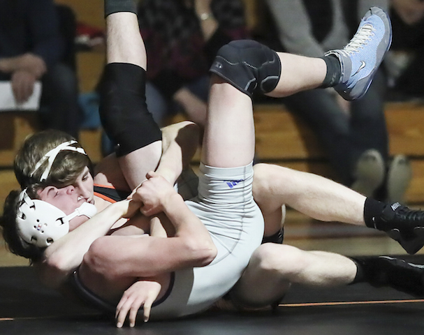 Burlington wrestlers complete perfect season, gear up for conference meet