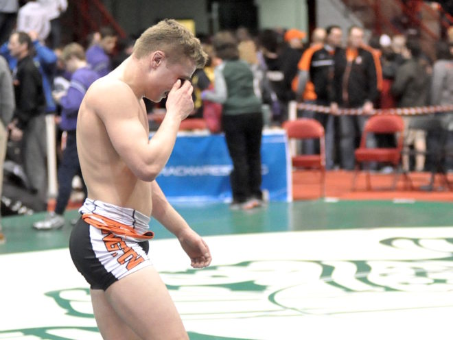 STATE WRESTLING: Controversial call bites Burlington, historic run ends