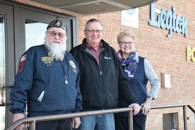 Donation helps create handicap drop-off at Legion Hall