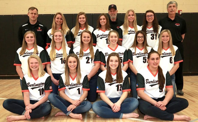 Burlington softball clinches first conference championship since 1989