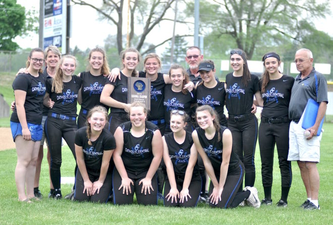 Robson's dominance lifts Catholic Central softball to sectionals