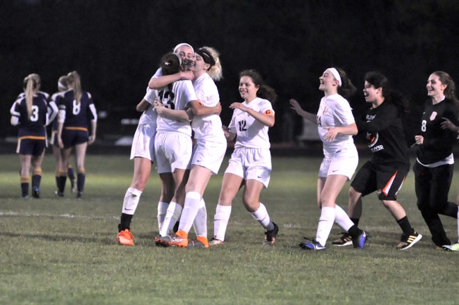Thrilling shootout victory propels Burlington soccer to SLC title match