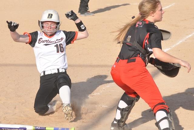 Burlington softball suffers 1st SLC loss in battle of unbeatens
