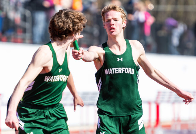 Waterford girls track wins conference title