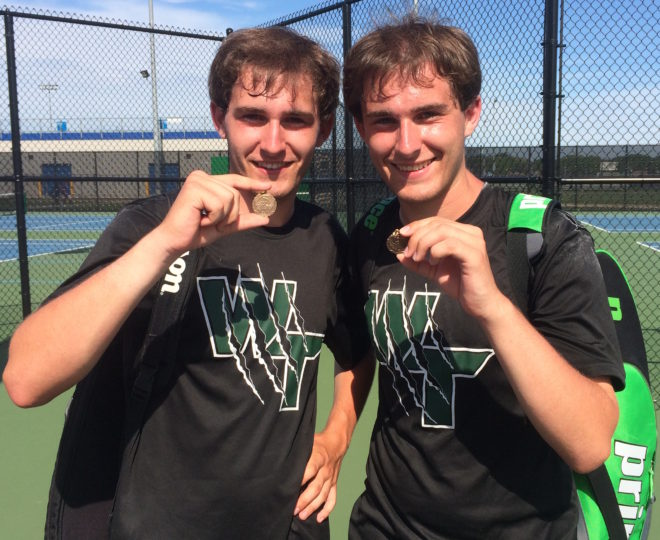 Waterford twins battle at state tennis