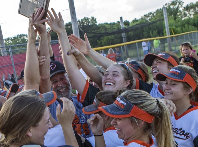 Two for the show: Burlington baseball, softball double up at state for 1st time