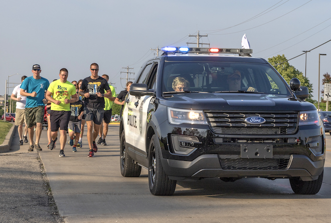 Torch run burns bright for Special Olympians