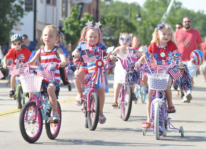 A parade of little patriots