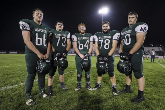 Waterford football streamrolls Burlington, sits alone atop Southern Lakes Conference