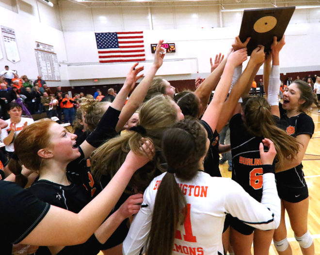 Two for the show: Burlington, Catholic Central volleyball attempt to recreate magic of 2011-12