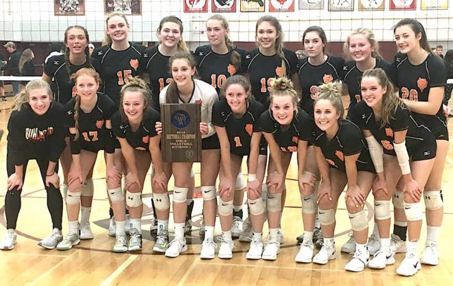 Commence title defense: Burlington volleyball sweeps rival Westosha, advances to 5th straight state tourney