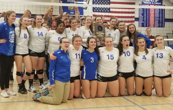 Catholic Central volleyball wins 20th straight, returns to state tournament