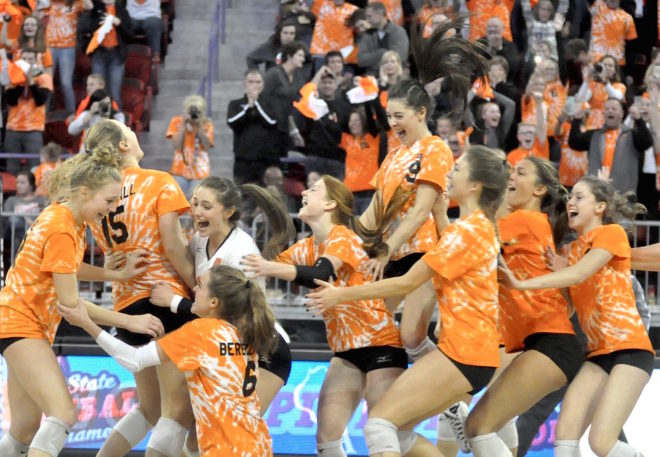 BACK 2 BACK: Burlington repeats as state volleyball champion