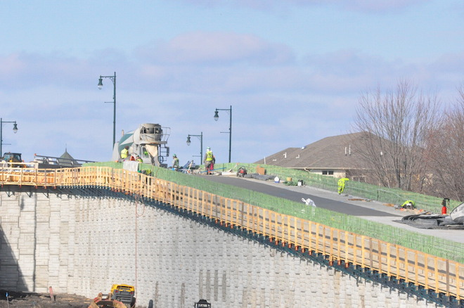 Railroad overpass connection work is in final stretch