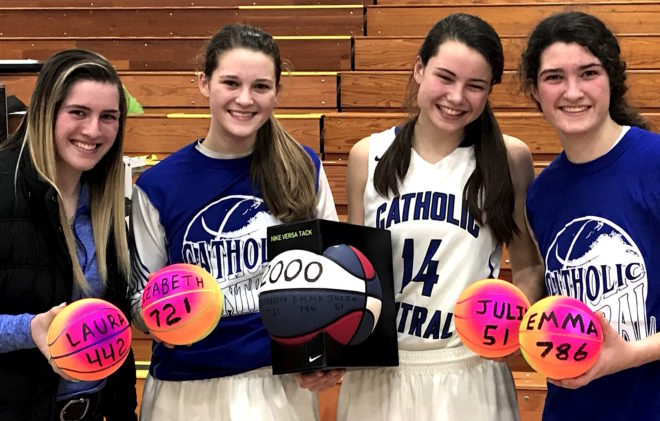 CATHOLIC CENTRAL ROUNDUP: Kleins reach 2,000-point milestone