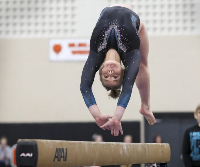 BUW gymnastics nabs state runner-up in final year as original co-op