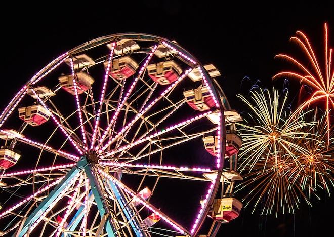 Festival fireworks are back on