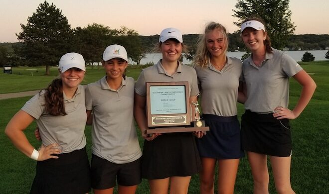 Grove golf captures share of conference title