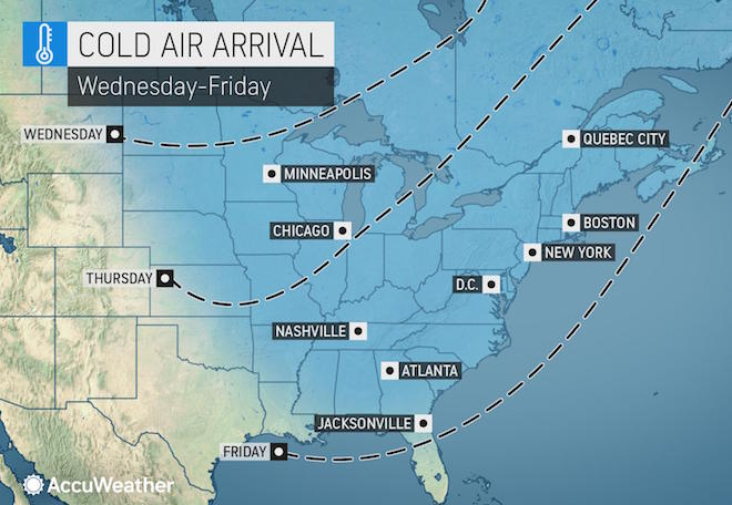 Area poised for coldest blast of the season