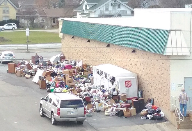 Donation dumping overwhelms store